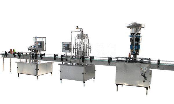Machine de capsulage et d'étiquetage de remplissage de bouteilles en verre de 1 litre