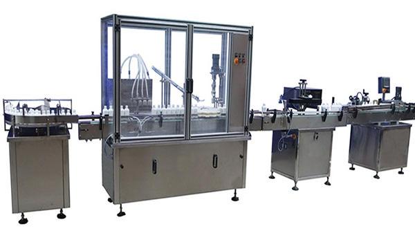 Machine de capsulage et d'étiquetage de remplissage de bouteilles automatique