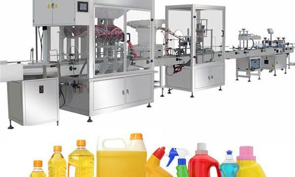 Machine de remplissage de javel par gravité, chaîne de production remplissante de javel