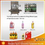 Machine de remplissage d'huile de cuisson comestible à 2, 4, 6, 8, 10, 12 têtes automatiques