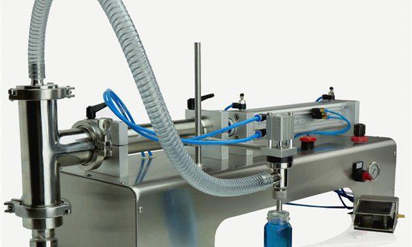 Machine de remplissage d'huile de lubrification de doubles têtes de contrôle pneumatique