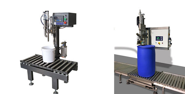 Machine de remplissage de barils d'huile