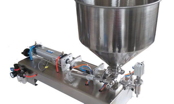 Machine de remplissage de miel semi-automatique en verre avec piston