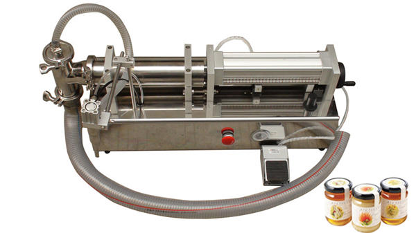 Machine de remplissage de miel liquide semi-automatique à haute viscosité