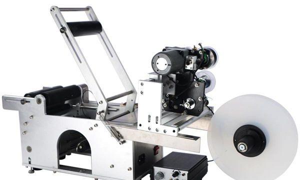 Machine à étiquettes semi-automatique pour bouteilles rondes