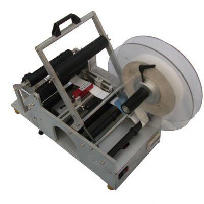 Machine d'étiquetage semi-automatique de bouteilles d'usine