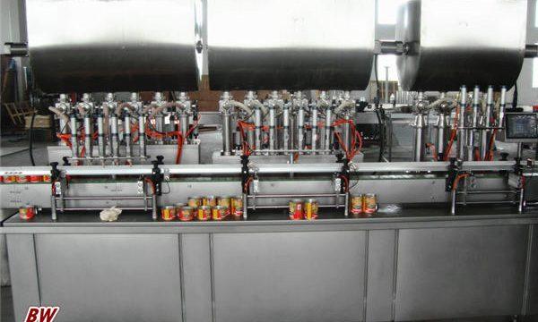 Machine de remplissage de sauce à pizza chaude automatique