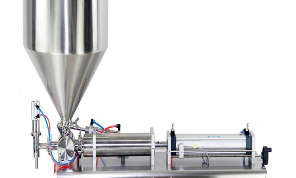 Machine de remplissage semi-automatique de crème de pot de piston