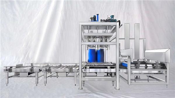 Machine de remplissage automatique pour gros tambour, capacité personnalisable, série ESDF 100-1000L