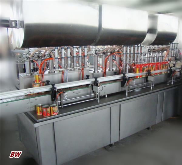 Machine de remplissage de pâte à chili entièrement automatique à deux têtes