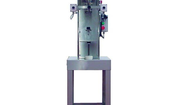 Machine de capsulage de bouteilles d'axe semi-automatique